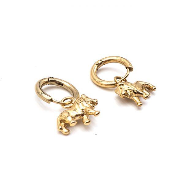 Ohrring Lion gold zwei