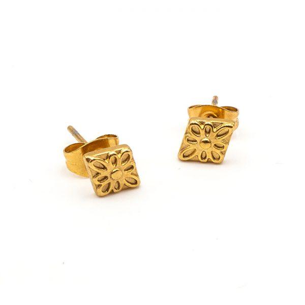 Ohrring Peru gold drei
